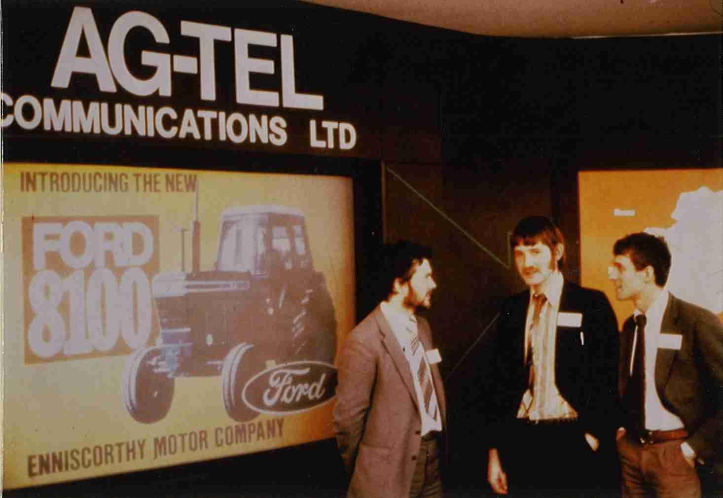 John Cummins & Declan Farrell in the early days of Agtel