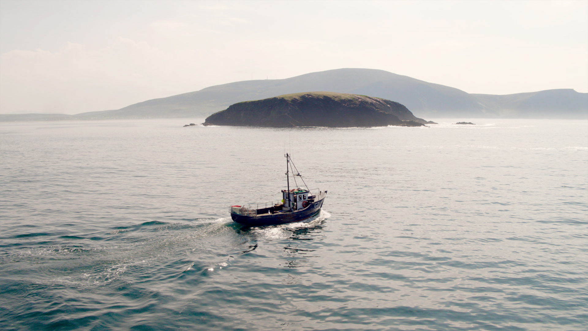 BIM social media campaign, boat at sea, Achill Island