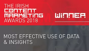 Irish Content Marketing Awards Winner badge