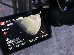 Filming the moon at Dunsink Observatory